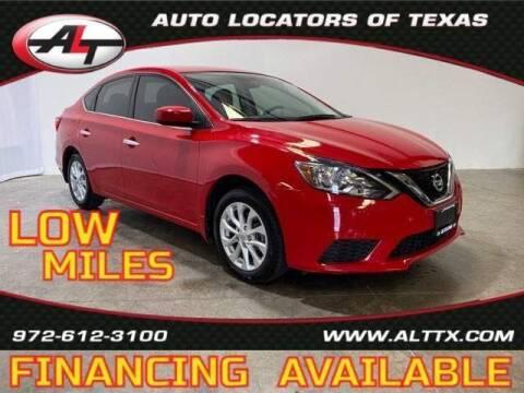 2018 Nissan Sentra for sale at AUTO LOCATORS OF TEXAS in Plano TX