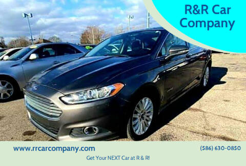 2013 Ford Fusion Hybrid for sale at R&R Car Company in Mount Clemens MI