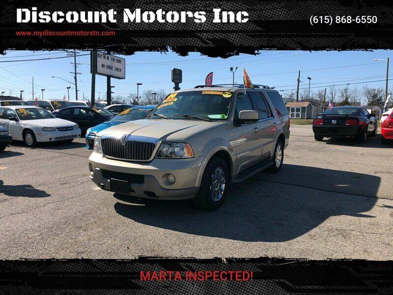 2004 Lincoln Navigator for sale at Discount Motors Inc in Madison TN