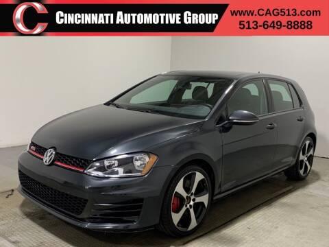2015 Volkswagen Golf GTI for sale at Cincinnati Automotive Group in Lebanon OH