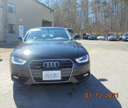 2013 Audi A4 for sale at Exclusive Auto Sales & Service in Windham NH