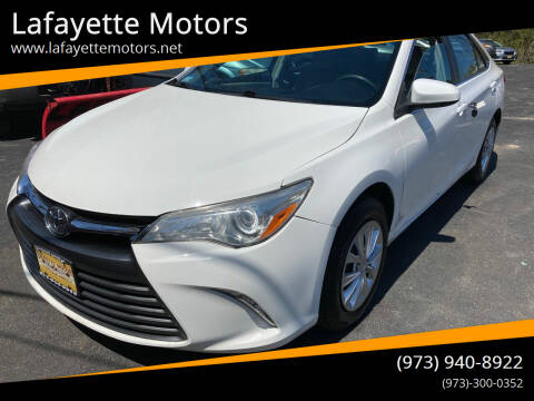 2015 Toyota Camry for sale at Lafayette Motors in Lafayette NJ