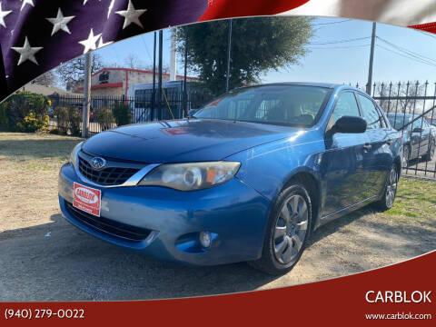 2008 Subaru Impreza for sale at CARBLOK in Lewisville TX