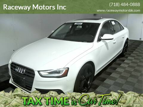 2013 Audi A4 for sale at Raceway Motors Inc in Brooklyn NY
