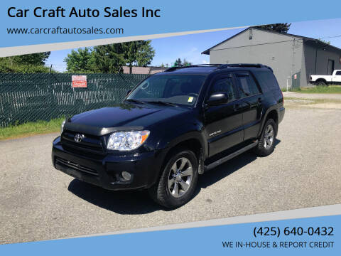 2008 Toyota 4Runner for sale at Car Craft Auto Sales Inc in Lynnwood WA