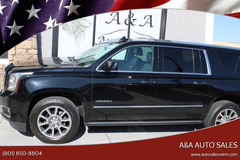 2016 GMC Yukon XL for sale at A&A Auto Sales in Orem UT