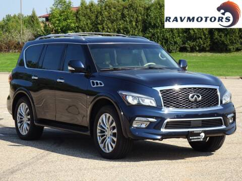 2015 Infiniti QX80 for sale at RAVMOTORS in Burnsville MN