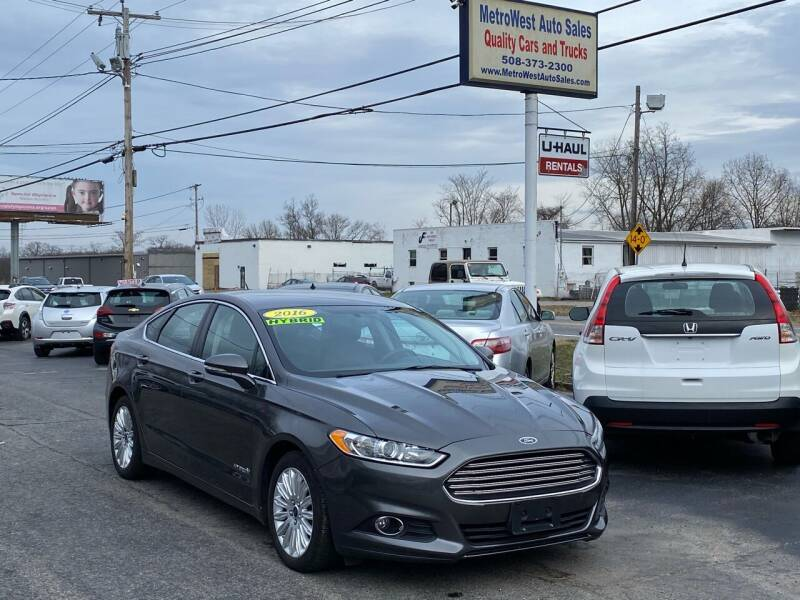2016 Ford Fusion Hybrid for sale at MetroWest Auto Sales in Worcester MA