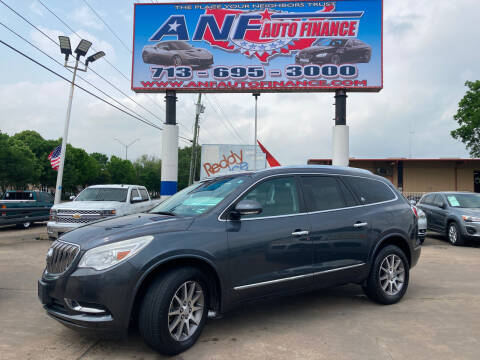 2013 Buick Enclave for sale at ANF AUTO FINANCE in Houston TX