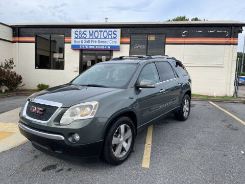 2011 GMC Acadia for sale at S & S Motors in Marietta GA