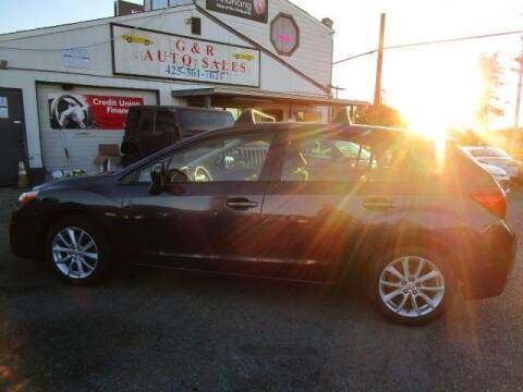 2014 Subaru Impreza for sale at G&R Auto Sales in Lynnwood WA