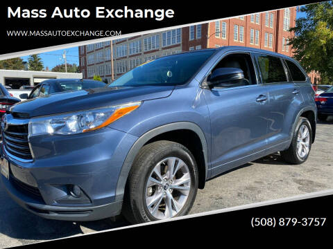 2016 Toyota Highlander for sale at Mass Auto Exchange in Framingham MA