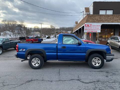2004 Chevrolet Silverado 1500 for sale at TNT Auto Sales in Bangor PA