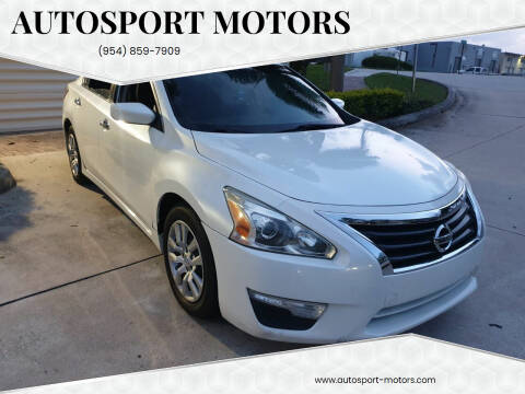 2014 Nissan Altima for sale at AUTOSPORT MOTORS in Lake Park FL