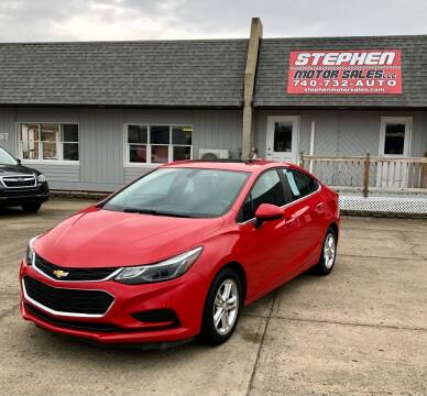 2017 Chevrolet Cruze for sale at Stephen Motor Sales LLC in Caldwell OH