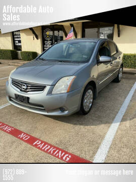 2012 Nissan Sentra for sale at Affordable Auto Sales in Dallas TX