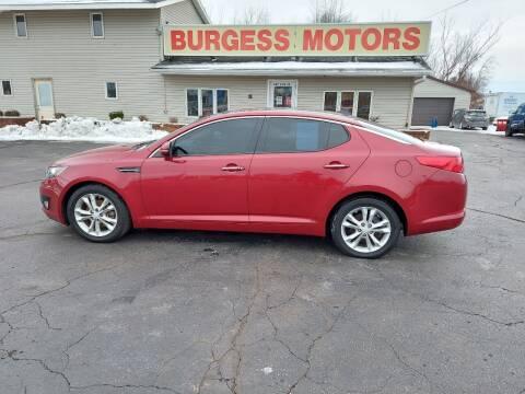 2012 Kia Optima for sale at Burgess Motors Inc in Michigan City IN