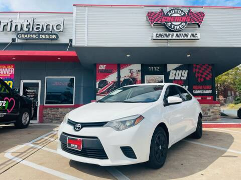 2016 Toyota Corolla for sale at Chema's Autos & Tires in Tyler TX