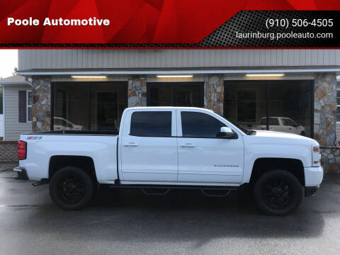 2017 Chevrolet Silverado 1500 for sale at Poole Automotive in Laurinburg NC