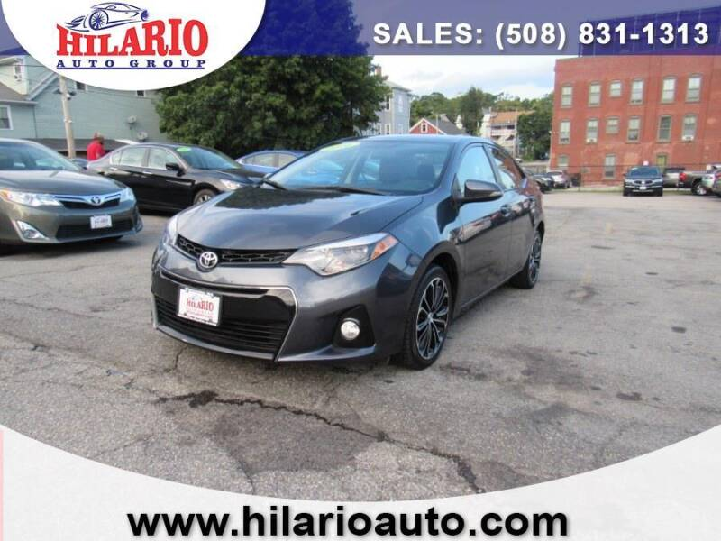 2016 Toyota Corolla for sale at Hilario's Auto Sales in Worcester MA