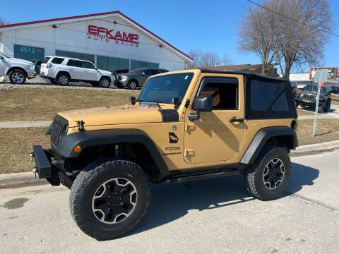 2013 Jeep Wrangler for sale at Efkamp Auto Sales LLC in Des Moines IA