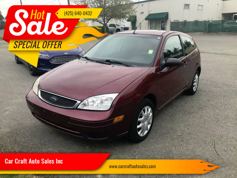 2007 Ford Focus for sale at Car Craft Auto Sales Inc in Lynnwood WA