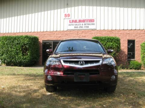 2009 Acura RDX for sale at Unlimited Auto Sales & Detailing, LLC in Windsor Locks CT