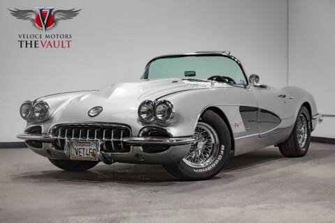 1958 Chevrolet Corvette for sale at Veloce Motors in San Diego CA