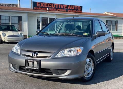 2004 Honda Civic for sale at Executive Auto in Winchester VA