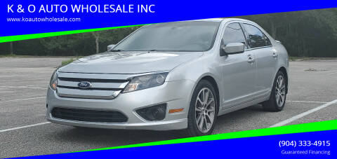 2011 Ford Fusion for sale at K & O AUTO WHOLESALE INC in Jacksonville FL