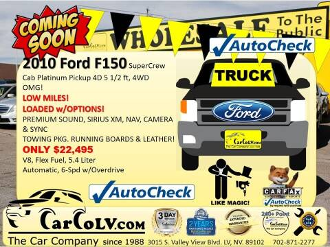 2010 Ford F-150 for sale at The Car Company in Las Vegas NV