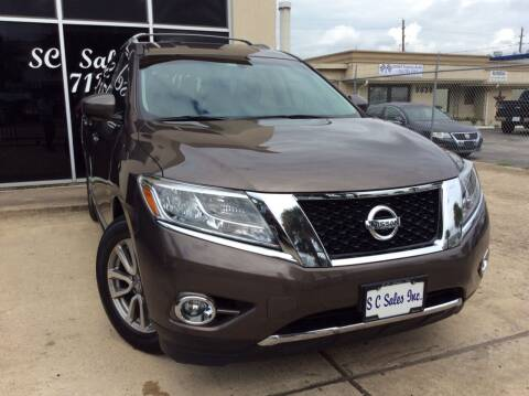 2015 Nissan Pathfinder for sale at SC SALES INC in Houston TX