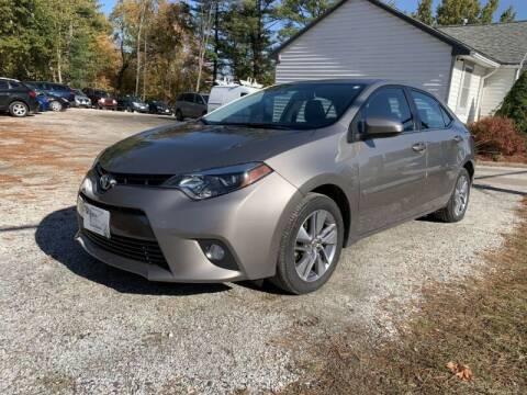 2015 Toyota Corolla for sale at Williston Economy Motors in Williston VT