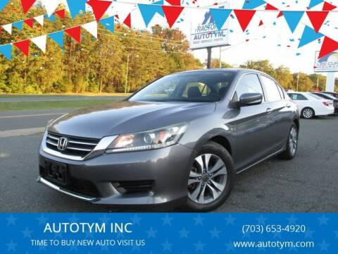 2014 Honda Accord for sale at AUTOTYM INC in Fredericksburg VA