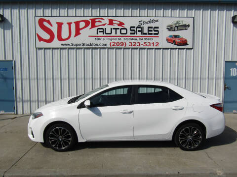 2015 Toyota Corolla for sale at SUPER AUTO SALES STOCKTON in Stockton CA