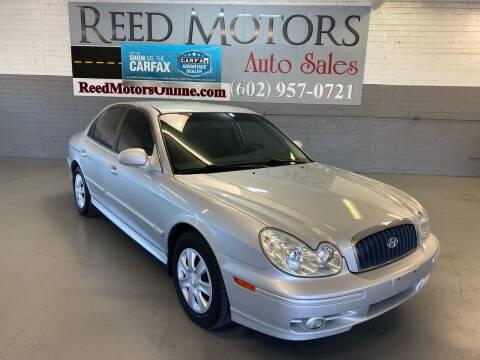 2004 Hyundai Sonata for sale at REED MOTORS LLC in Phoenix AZ