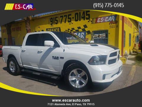 2015 RAM Ram Pickup 1500 for sale at Escar Auto in El Paso TX