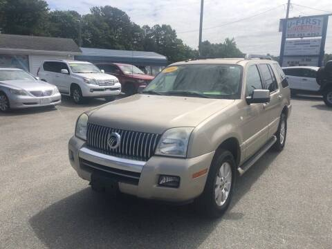 2006 Mercury Mountaineer for sale at U FIRST AUTO SALES LLC in East Wareham MA