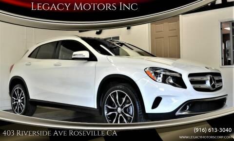 2017 Mercedes-Benz GLA for sale at Legacy Motors Inc in Roseville CA