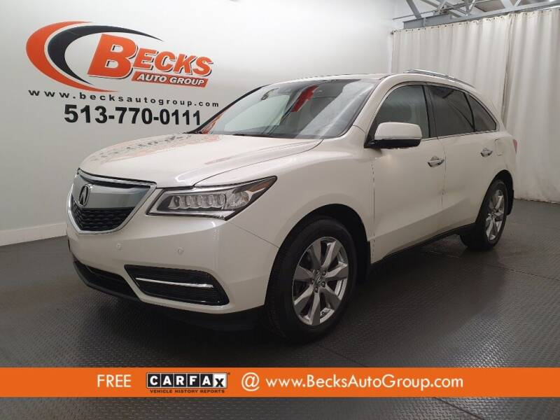 2016 Acura MDX for sale at Becks Auto Group in Mason OH