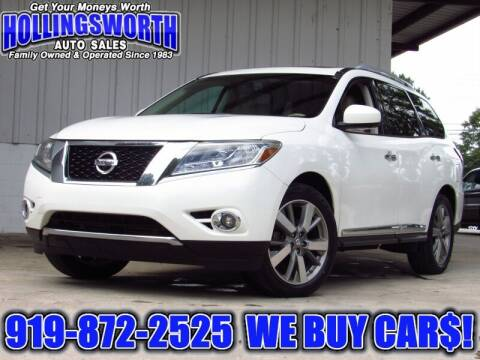 2014 Nissan Pathfinder for sale at Hollingsworth Auto Sales in Raleigh NC