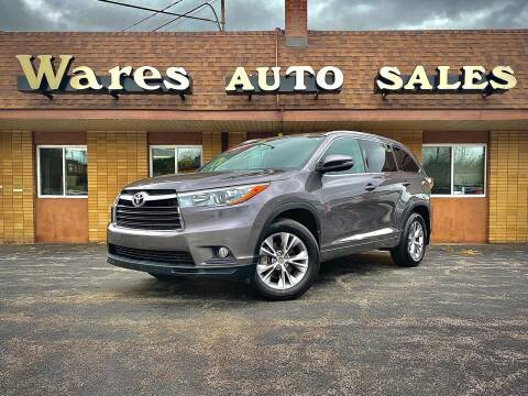 2015 Toyota Highlander for sale at Wares Auto Sales INC in Traverse City MI