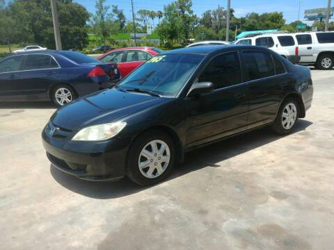 2005 Honda Civic for sale at QUALITY AUTO SALES OF FLORIDA in New Port Richey FL