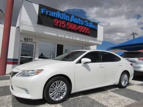 2013 Lexus ES 350 for sale at Franklin Auto Sales in El Paso TX