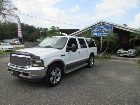 2000 Ford Excursion for sale at NEXT RIDE AUTO SALES INC in Tampa FL
