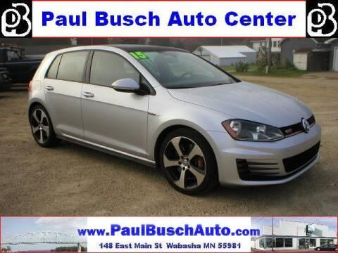 2015 Volkswagen Golf GTI for sale at Paul Busch Auto Center Inc in Wabasha MN