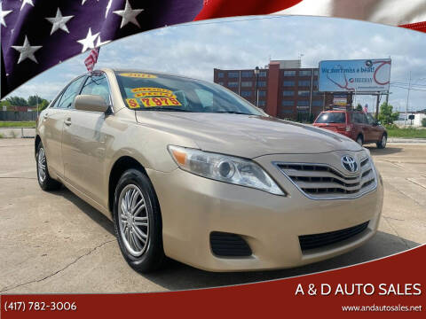 2011 Toyota Camry for sale at A & D Auto Sales in Joplin MO