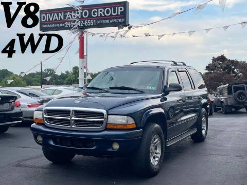 2003 Dodge Durango for sale at Divan Auto Group in Feasterville Trevose PA