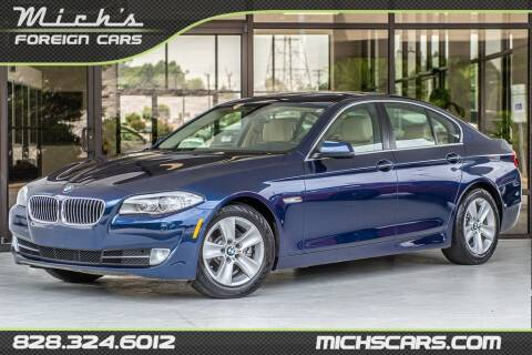 2013 BMW 5 Series for sale at Mich's Foreign Cars in Hickory NC