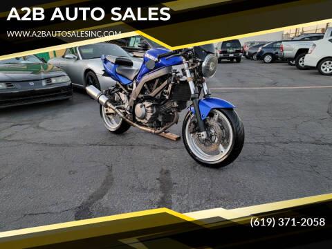 2004 Suzuki SV650 for sale at A2B AUTO SALES in Chula Vista CA
